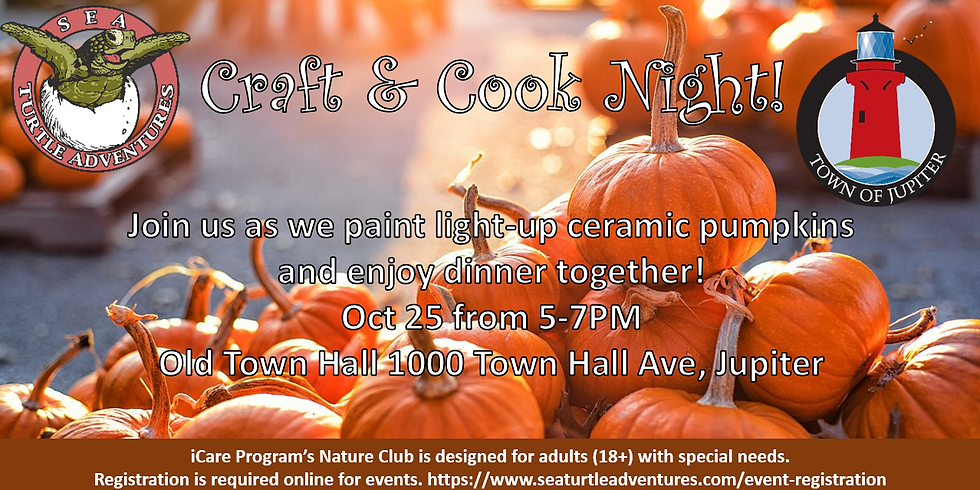 October Craft and Cook Night with Town of Jupiter!