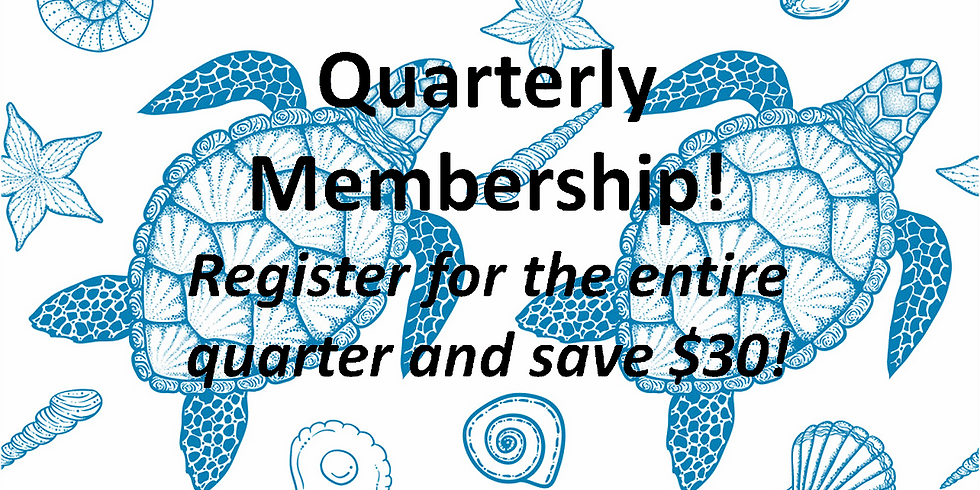 4th Quarter Membership Fee (Entry into all 12 Events during 4th Quarter)!