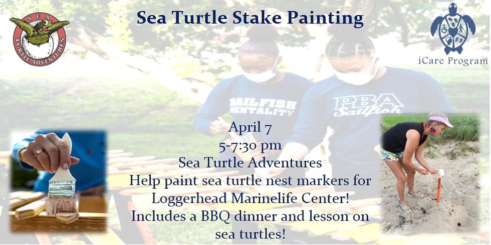 Sea Turtle Stake Painting
