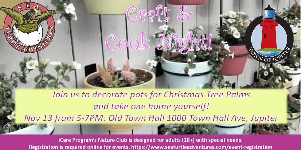 November Craft and Cook Night with Town of Jupiter!