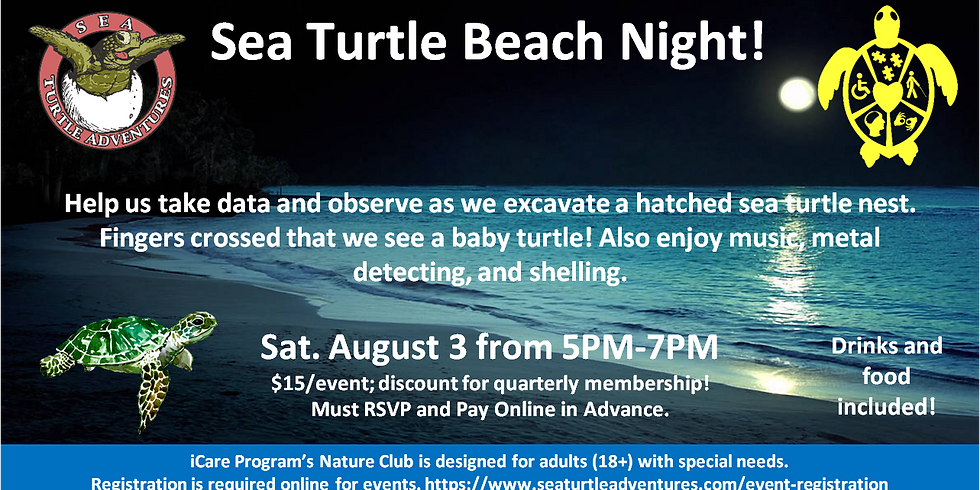 Sea Turtle Beach Night!