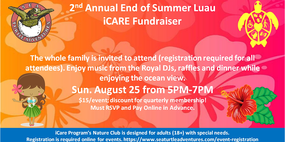2nd Annual End of Summer Luau iCare Fundraiser