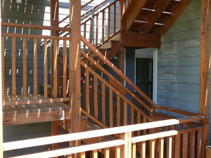 Stairs to decks