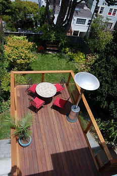 An aerial view of a deck, Hammerhouse Construction