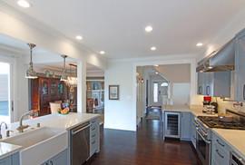 An expansive kitchen