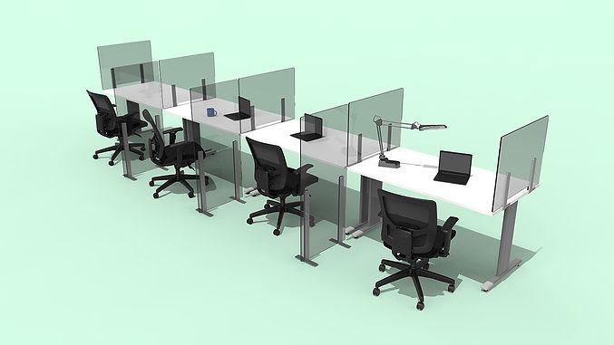 Plexiglass Barriers in Office