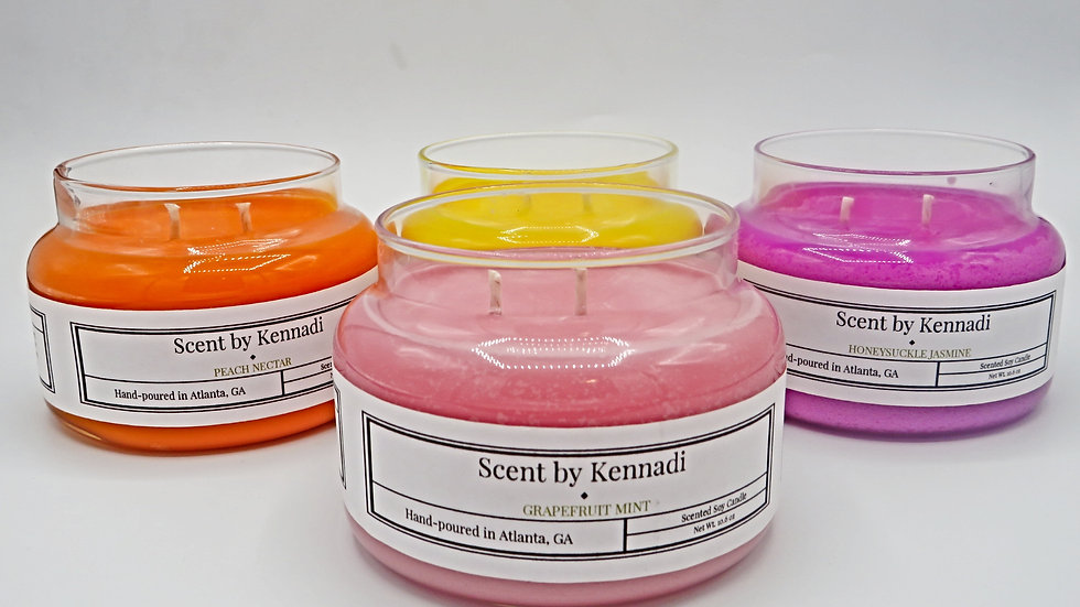 8oz double-wicked soy candles