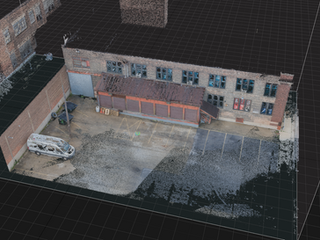 Digital Location Capture - Point Cloud Aerial View