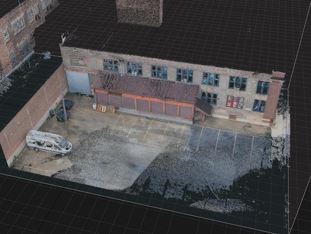 Digital Location Capture - Point Cloud Aerial View