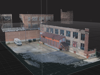 Digital Location Capture - Point Cloud Aerial View 2