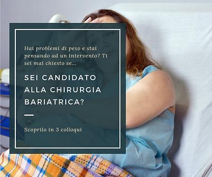 SEI CANDIDATO ALLA CHIRURGIA BARIATRICA_
