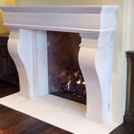 Traditional Limestone Fireplace Surround