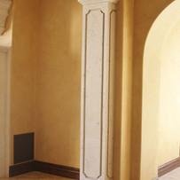 Square Stone Column / Pilaster at Interior