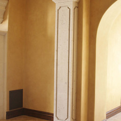 Square Stone Column / Pilaster at Interior