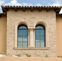 Arched Window Surrounds with Column