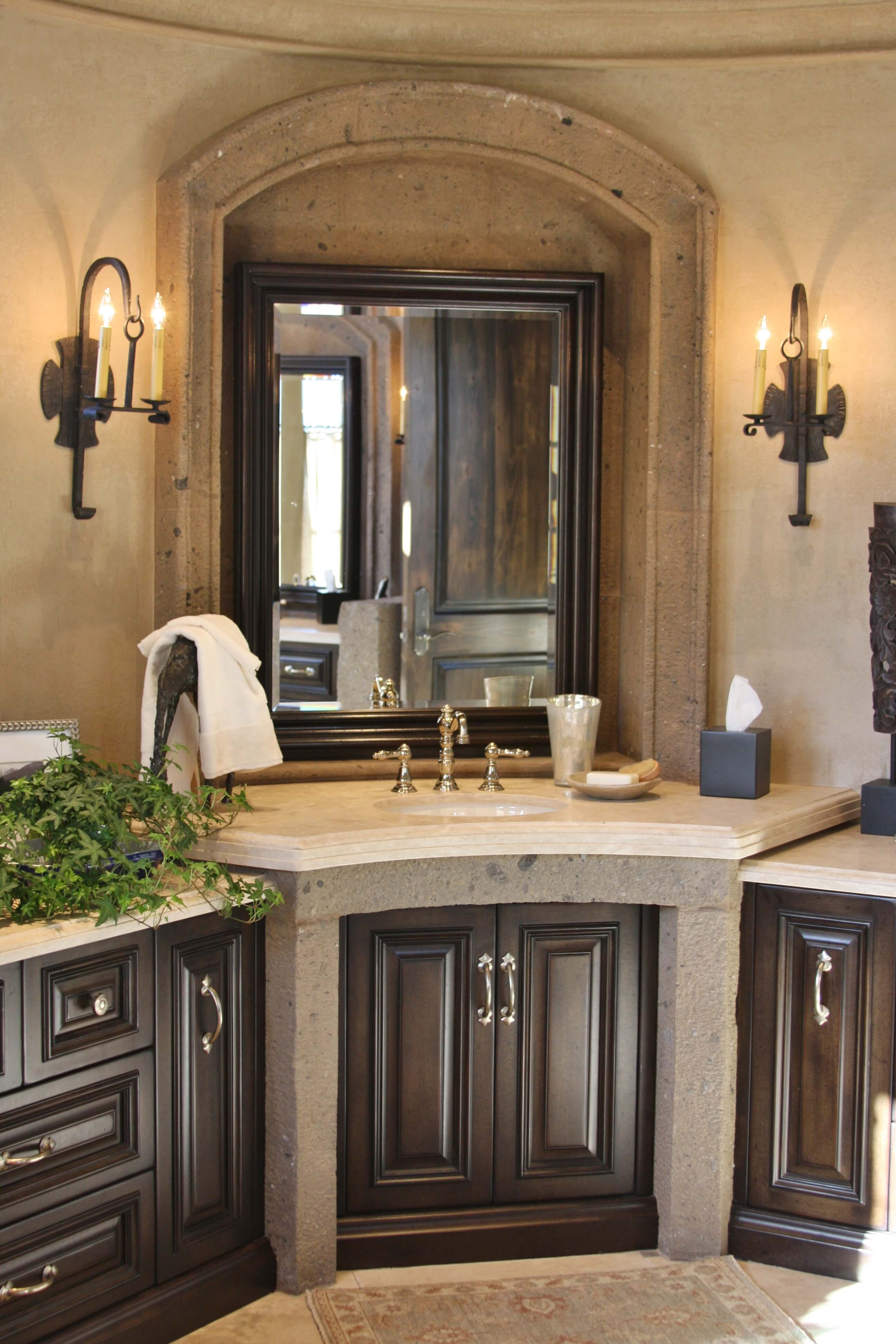 14-Vanity-Arched-Mirror-Surround-in-Tobacco-Cantera-Stone-with-Distressed-Finish