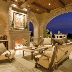European Inspired Outdoor Living Room