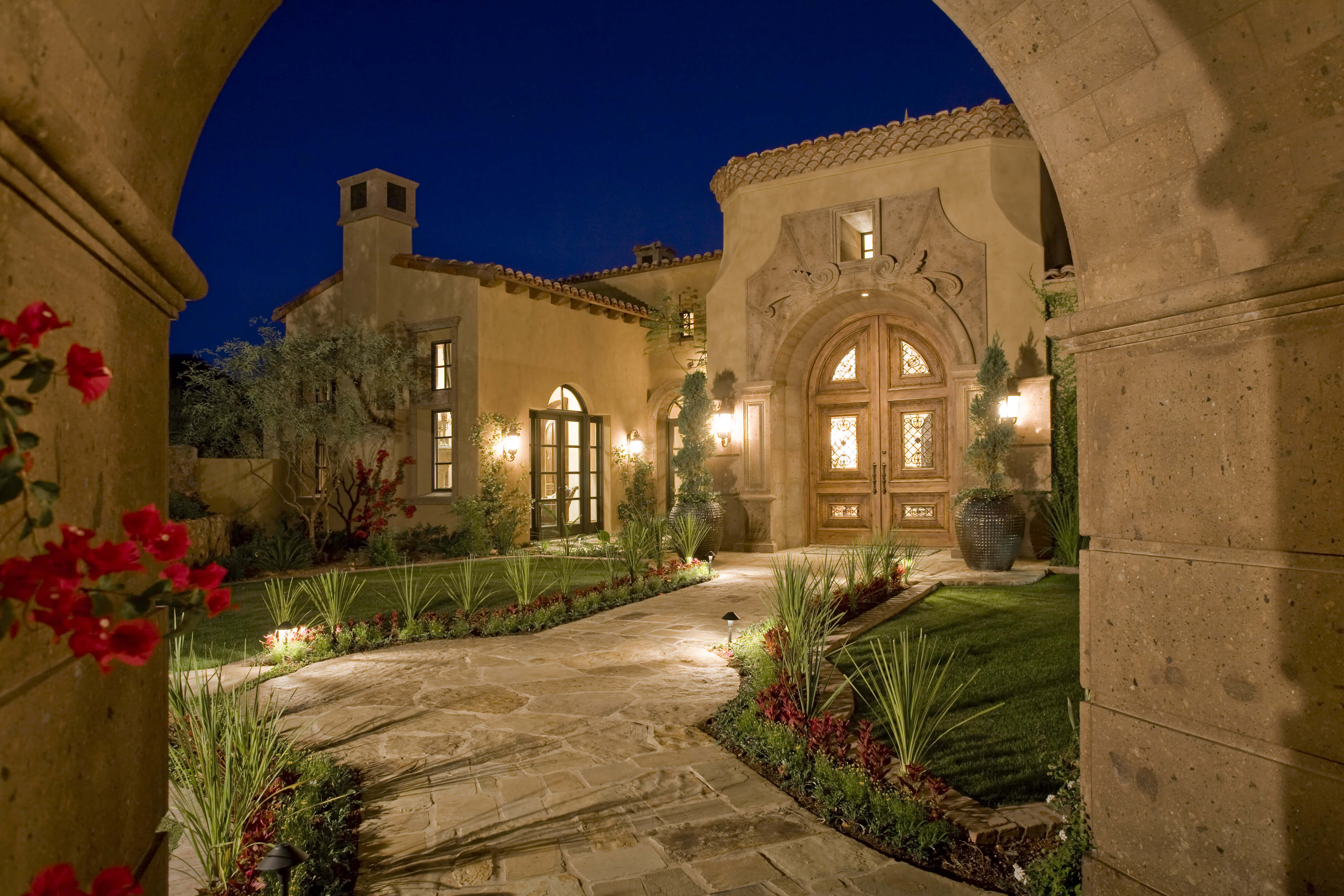 1-European-Entryway-Surround-and-Gate-Entry-Surround-in-Tobacco-Cantera-Stone