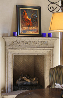 4-Southwest-Contemporary-Fireplace-Surround-at-Breakfast-Nook-in-Tobacco-Cantera-Stone-with-Distress
