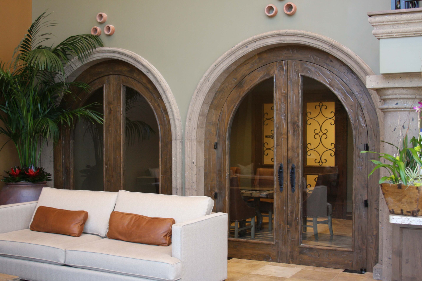 Arched Door Surrounds In Stone