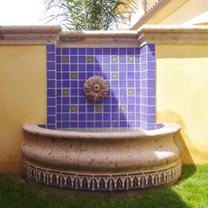 Wall Fountain with Deco Tile