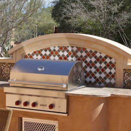 Wall Cap at Barbecue Area