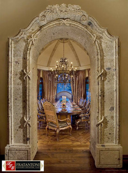 11-Dining-Room-Entry-Surround-in-Oro-Cantera-Stone