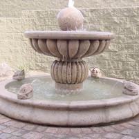 Fountain in Cantera Stone