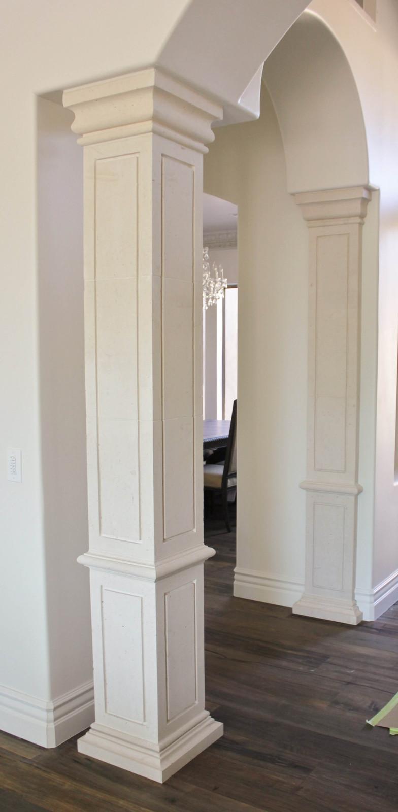 Square Interior Limestone Columns