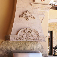 Barbecue Stone Range Hood Surround