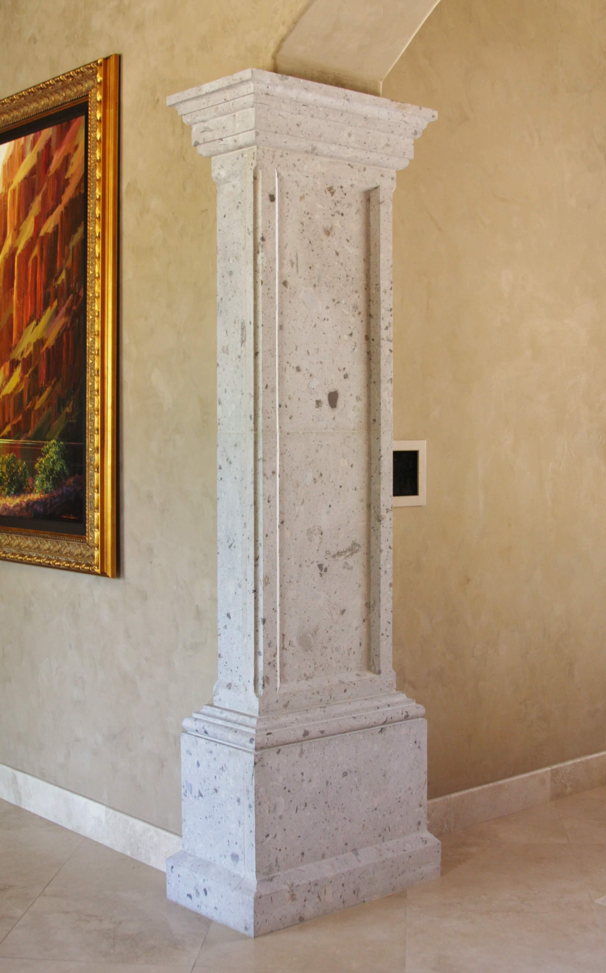 4-Raised-Panel-Column-Pilaster-in-Rio-Blanco-Cantera-Stone