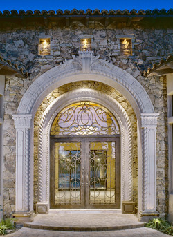 1-Traditional-European-Double-Rope-Entryway-and-Door-surround-with-Corinthian-column-panels-in-Pinon