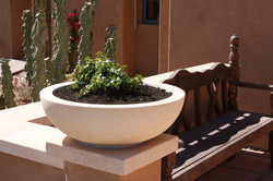 2-Wok-Landscape-Planter-Pot-in-Limestone-with-Stained-Finish