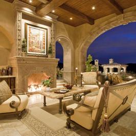 Cantera Stone Fireplace Surround