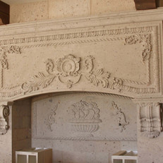 Tuscan Stone Range Hood Surround