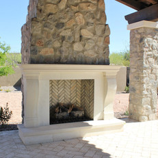 Transitional Fireplace Surround