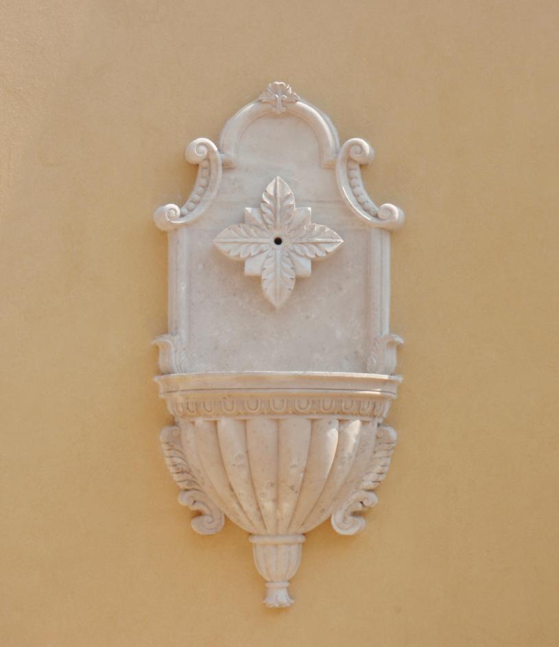decorative stone wall sconce