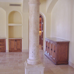 Tuscan Round Column in Travertine