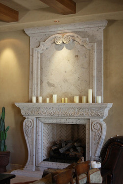7-Old-World-Fireplace-Surround-with-Overmantel-in-Rio-Blanco-Cantera-Stone