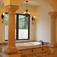 Doric Round Limestone Columns