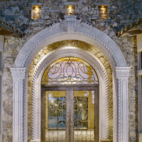 Carved Stone Entryway
