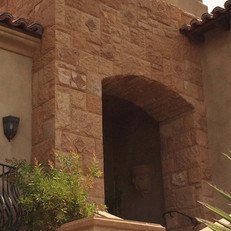 Traditional Entryway With Split-Face Cladding