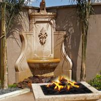 Limestone Corner Fountain