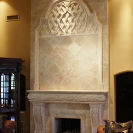 Travertine Fireplace Surround