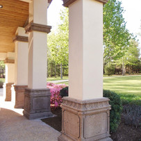 Square Stone Pillar and Crown