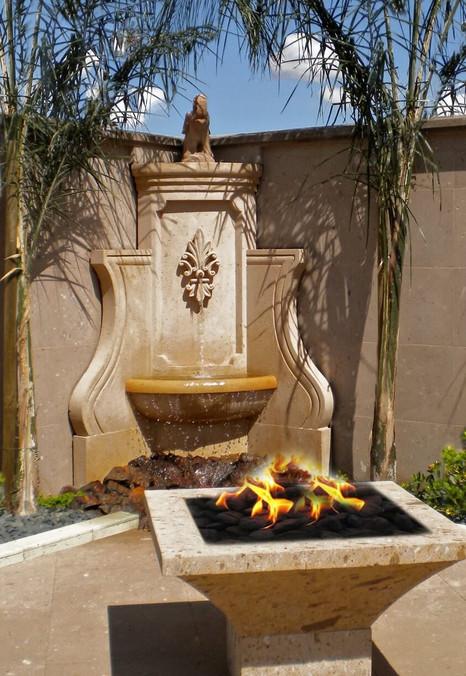 Corner Fountain in Limestone