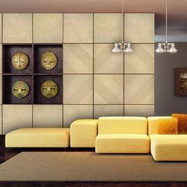 3D Stone Wall Art- Linear Diamond
