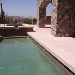 Pool and Spa Coping in Cantera Stone