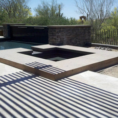 Modern Stone Pool and Spa Coping