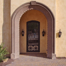 Custom Carved Stone Entryway Surround